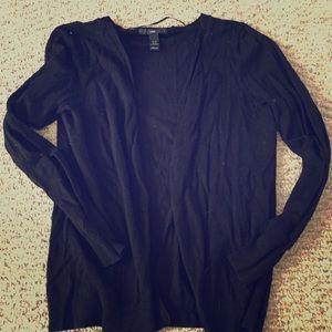 H&M Black Button Down Oversized Cardigan